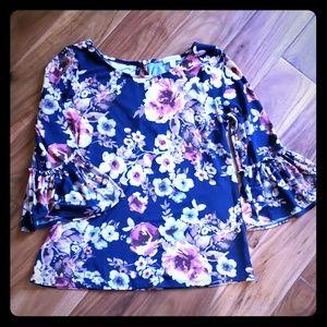 Flirty soft floral top